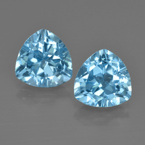 Swiss Blue Topaz Gem - 3ct Trillion Facet (ID: 413981)
