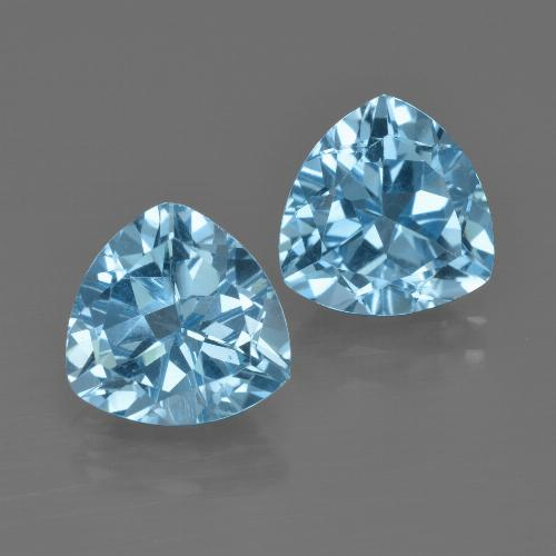 thumb image of 5.7ct Trillion Facet Swiss Blue Topaz (ID: 413982)