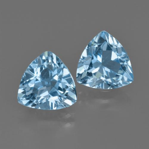 thumb image of 5.6ct Trillion Facet Swiss Blue Topaz (ID: 413987)