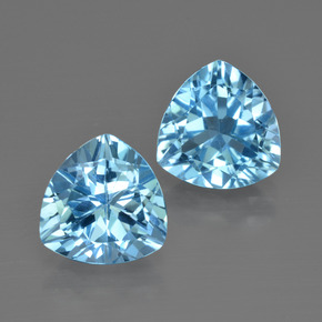 Light Blue Topaz Gem - 3ct Trillion Facet (ID: 413989)