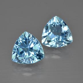 thumb image of 5.2ct Trillion Facet Swiss Blue Topaz (ID: 413991)