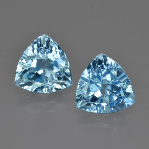 thumb image of 5.7ct Trillion Facet Swiss Blue Topaz (ID: 413992)