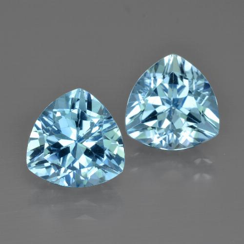 thumb image of 5.9ct Trillion Facet Swiss Blue Topaz (ID: 413993)