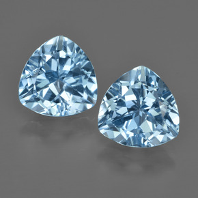 Swiss Blue Topaz Gem - 2.9ct Trillion Facet (ID: 414078)