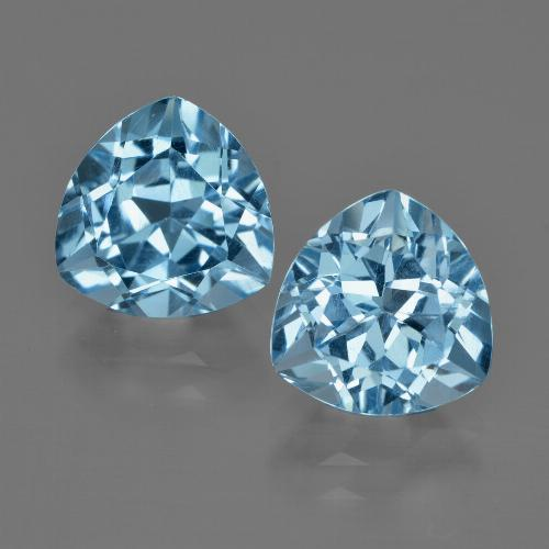 Swiss Blue Topaz Gem - 3.3ct Trillion Facet (ID: 414083)