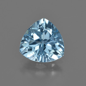 Swiss Blue Topaz Gem - 2.7ct Trillion Facet (ID: 414123)