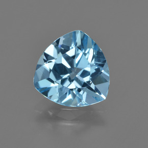 Swiss Blue Topaz Gem - 2.7ct Trillion Facet (ID: 414125)