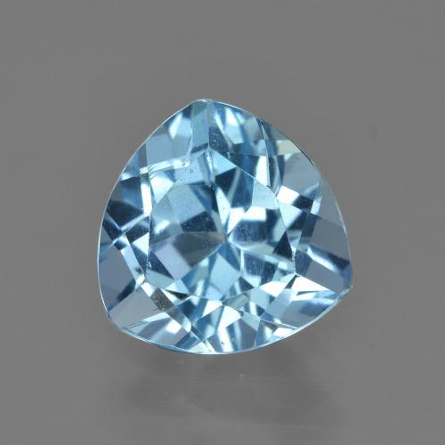 thumb image of 3.2ct Trillion Facet Swiss Blue Topaz (ID: 414229)
