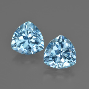 thumb image of 5.7ct Trillion Facet Swiss Blue Topaz (ID: 414253)