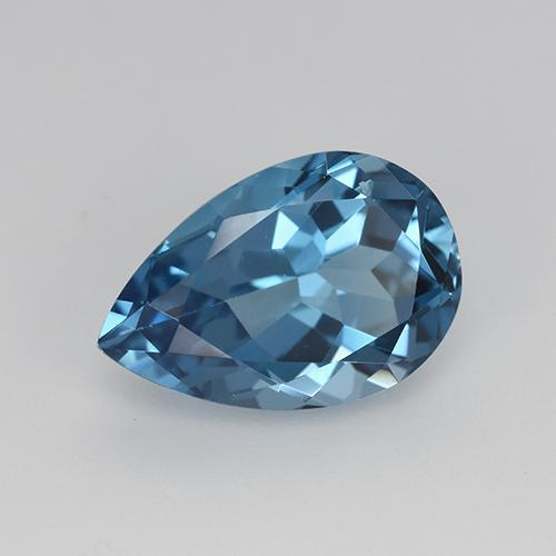 3.4ct Pear Facet London Blue Topaz Gem (ID: 414607)