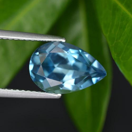 3.9ct Pear Facet London Blue Topaz Gem (ID: 414704)