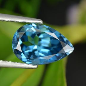 Rich Blue Topaz Gem - 3.5ct Pear Facet (ID: 414747)