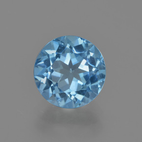 2.6ct Round Facet Swiss Blue Topaz Gem (ID: 414892)