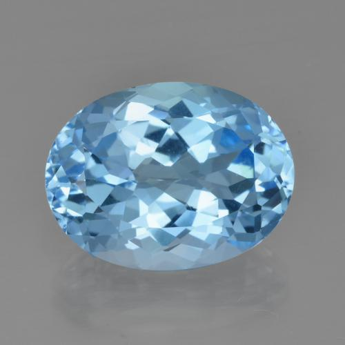 23.6ct Oval Facet Swiss Blue Topaz Gem (ID: 415298)