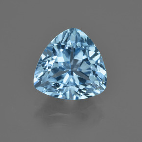 Swiss Blue Topaz Gem - 4.1ct Trillion Facet (ID: 415874)