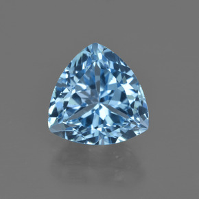 Swiss Blue Topaz Gem - 4ct Trillion Facet (ID: 415876)