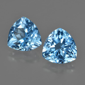 Swiss Blue Topaz Gem - 3.7ct Trillion Facet (ID: 416087)