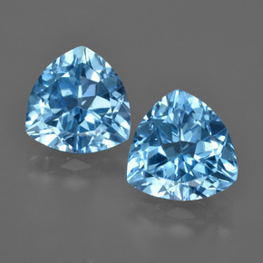 Swiss Blue Topaz Gem - 3.7ct Trillion Facet (ID: 416543)