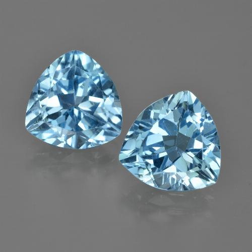 Swiss Blue Topaz Gem - 3.7ct Trillion Facet (ID: 417469)