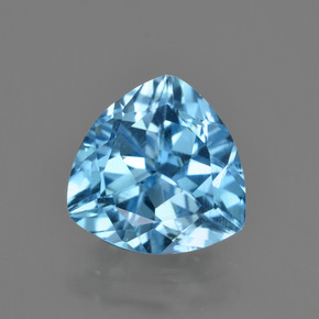 Swiss Blue Topaz Gem - 3.7ct Trillion Facet (ID: 417505)