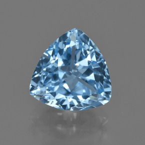 Swiss Blue Topaz Gem - 4.1ct Trillion Facet (ID: 417575)