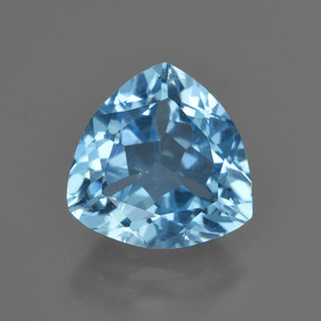 Swiss Blue Topaz Gem - 3.8ct Trillion Facet (ID: 417733)