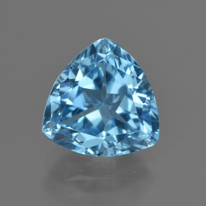 Swiss Blue Topaz Gem - 4ct Trillion Facet (ID: 417737)