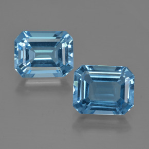 Swiss Blue Topaz Gem - 3.3ct Octagon Facet (ID: 418489)