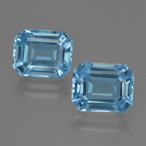 Swiss Blue Topaz Gem - 3.9ct Octagon Facet (ID: 418491)