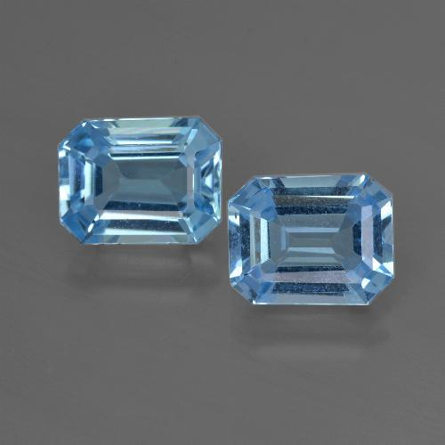 Swiss Blue Topaz Gem - 2.6ct Octagon Facet (ID: 419187)