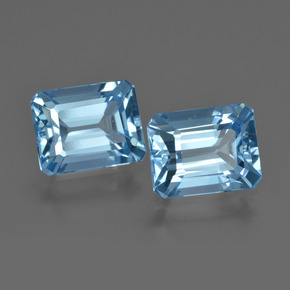 Swiss Blue Topaz Gem - 3.1ct Octagon Facet (ID: 419272)