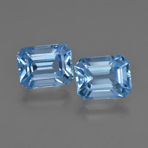 Swiss Blue Topaz Gem - 2.8ct Octagon Facet (ID: 419273)