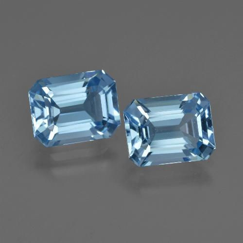Swiss Blue Topaz Gem - 2.6ct Octagon Facet (ID: 419274)