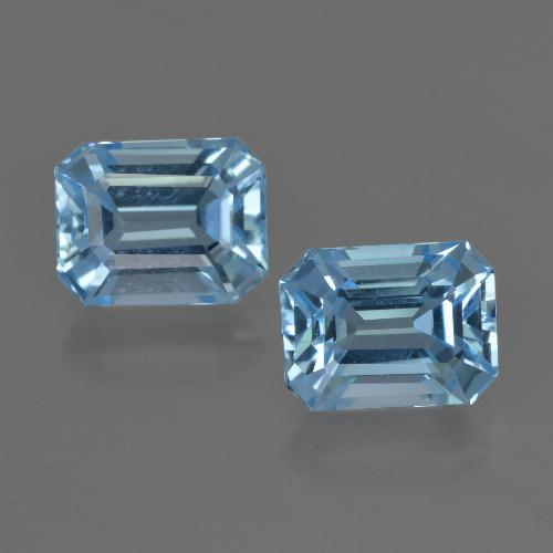 Swiss Blue Topaz Gem - 2.9ct Octagon Facet (ID: 419319)