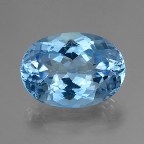 29.91 ct Oval Facet Swiss Blue Topaz Gemstone 22.38 mm x 16.2 mm (Product ID: 419645)