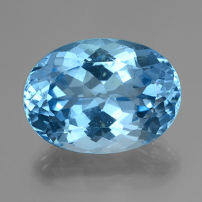 38.26 ct Oval Facet Swiss Blue Topaz Gemstone 24.00 mm x 17.6 mm (Product ID: 419651)