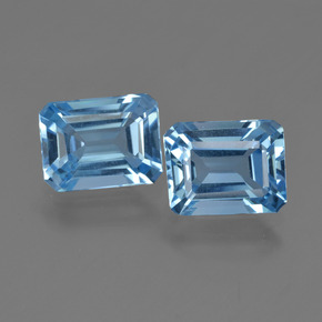Swiss Blue Topaz Gem - 2ct Octagon Facet (ID: 419793)