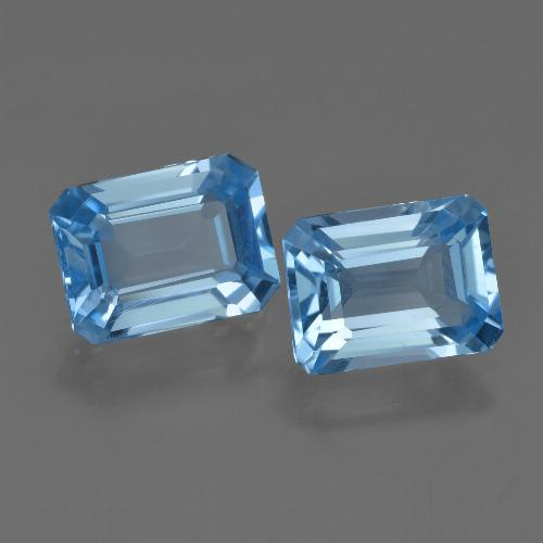 Swiss Blue Topas Edelstein - 2.3ct Oktagon facettiert (ID: 419794)