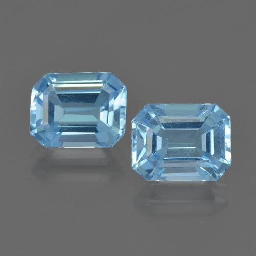 Swiss Blue Topaz Gem - 2.6ct Octagon Facet (ID: 419802)
