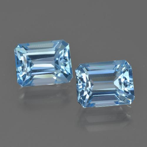 Swiss Blue Topaz Gem - 3.1ct Octagon Facet (ID: 419810)