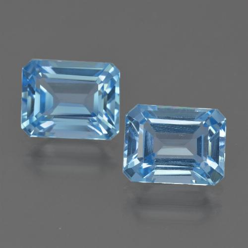 Blue Topaz Gem - 3ct Octagon Facet (ID: 419811)