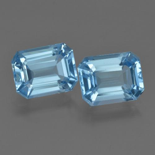 Swiss Blue Topaz Gem - 2.7ct Octagon Facet (ID: 419843)