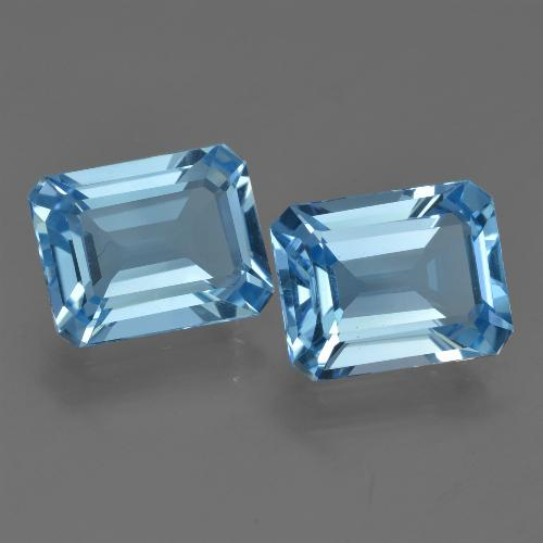 Swiss Blue Topaz Gem - 2.8ct Octagon Facet (ID: 419845)