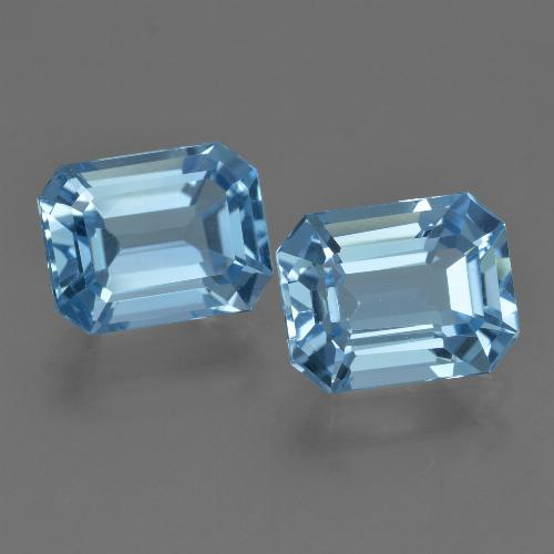 Swiss Blue Topaz Gem - 2.9ct Octagon Facet (ID: 419847)