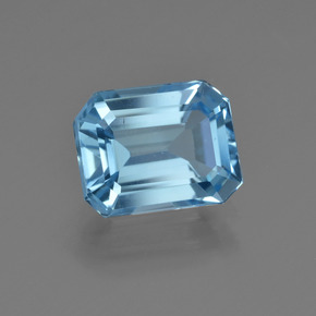 Medium Blue Topacio Gema - 2.8ct Forma octagonal (ID: 420001)