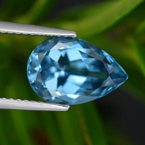 London Blue Topaz Gem - 3.6ct Pear Facet (ID: 421094)