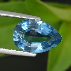 3.5ct Pear Facet Rich Blue Topaz Gem (ID: 421099)