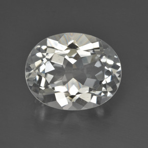 White Topaz Gem - 4.5ct Oval Facet (ID: 422023)