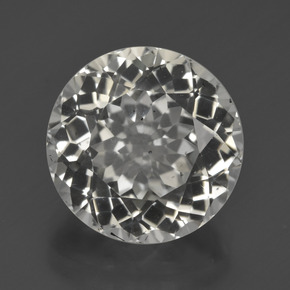 7.49 ct Round Facet Warm White Topaz Gemstone 11.75 mm  (Product ID: 422408)