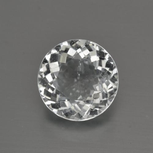 4.6ct Round Facet White Topaz Gem (ID: 422543)
